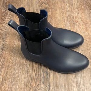 Dark Navy J. Crew Rainboots